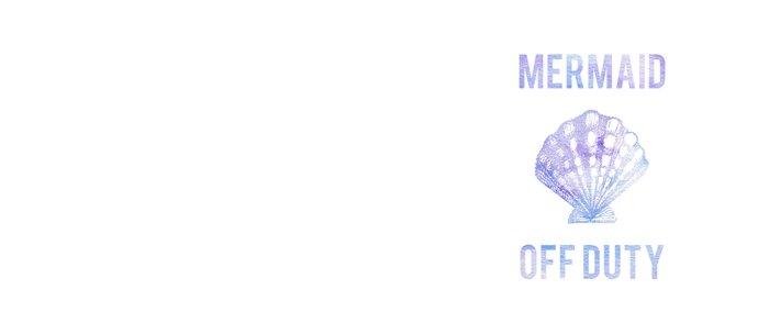 Mermaid Off Duty - Purple & Blue Seashell Coffee Mug