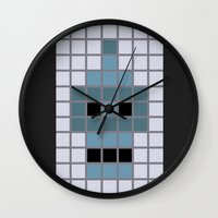bender Wall Clocks featuring Bender Was Here by BC Arts