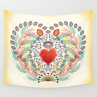 valentine Wall Tapestries featuring VALENTINE DAY by famenxt