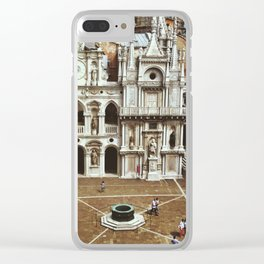Doge's Palace Courtyard Clear iPhone Case