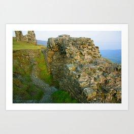 Dinas Bran Castle Ruins Art Print