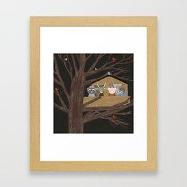 the little treehouse Framed Art Print