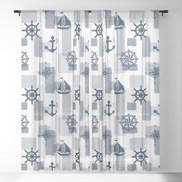 Nautical design 5 Sheer Curtain