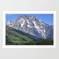 Grand Tetons Mountain and Slope Art Print