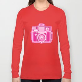 I Still Shoot Film Holga Logo - Pink Long Sleeve T-shirt