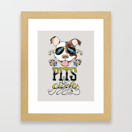 Pits & Giggles Framed Art Print