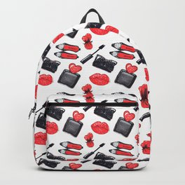 Fashion accessories, shoes, bag, glasses, lipstick Backpack