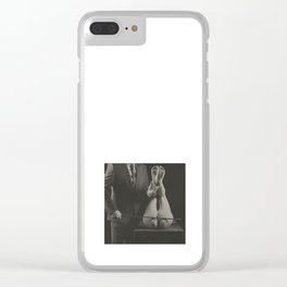 Photography nude Vintage Spanking Art Clear iPhone Case