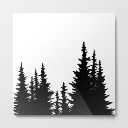Dense Forest Tree Line Metal Print