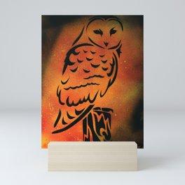 Orange Owl Mini Art Print