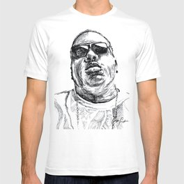 Digital Drawing 33 - Notorious B.I.G. Black and White T-shirt