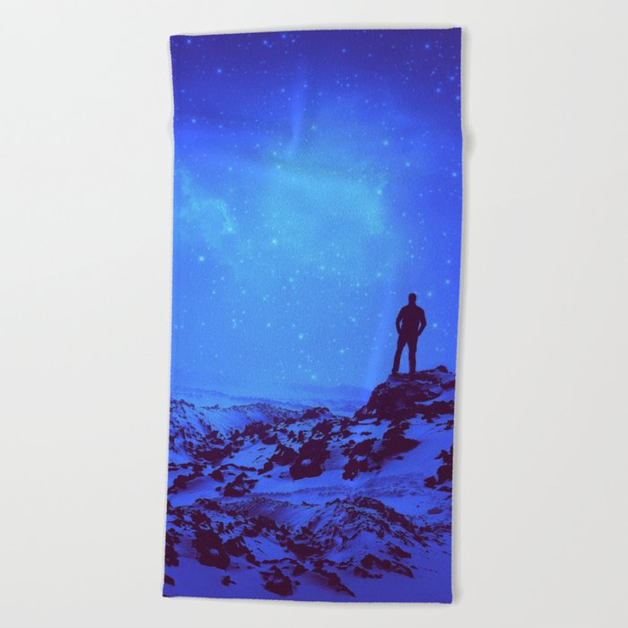 Lost the Moon While Counting Stars III Beach Towel