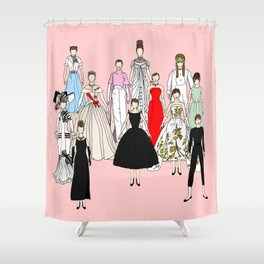 Think Pink Outfits Fashion Audrey Shower Curtain