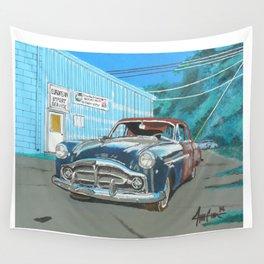 rusty Packard car Wall Tapestry