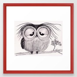 Its Been a Long Day - Mr. Owl Framed Art Print