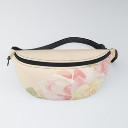 Spring Flowers Peach Fanny Pack