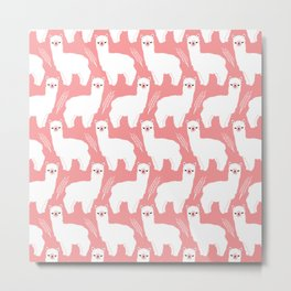 The Alpacas II Metal Print