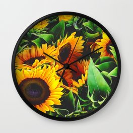 Sunfowers by Lika Ramati Wall Clock