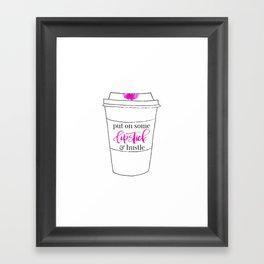 Lipstick and Hustle Framed Art Print
