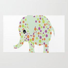 cute floral elephant Rug