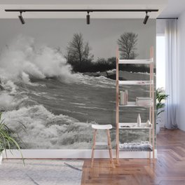 Lake Huron Storm Shore Wall Mural