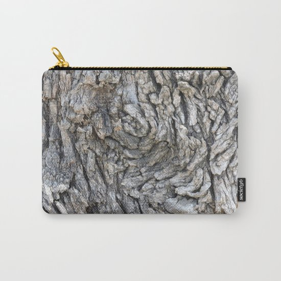 TEXTURES -- Blue Elderberry Bark Carry-All Pouch