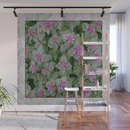 WILD SALVIA MAUVE AND GRAY GREEN Wall Mural
