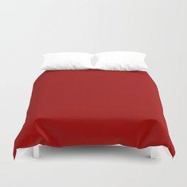 Crimson Red - solid color Duvet Cover