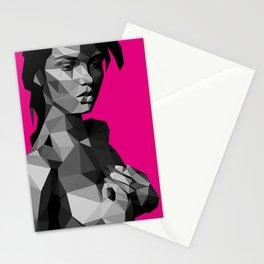 Black Magenta Stationery Cards
