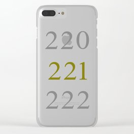220 221 222 Clear iPhone Case