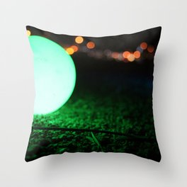 Light and Focus (Green) Throw Pillow
