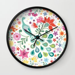 Peacock Sanctuary Wall Clock