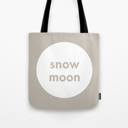 Snow Moon Tote Bag
