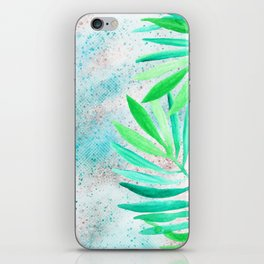 green teal sparkle glittter iPhone Skin
