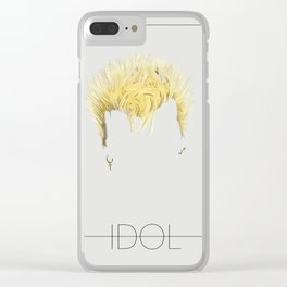 Iconic Hair - Billy Idol Clear iPhone Case
