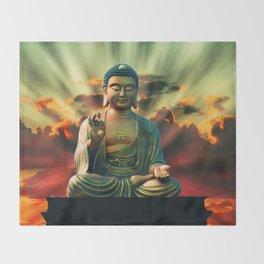 Buddha Sunrise Throw Blanket