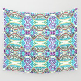 Design 126 blue abstract Wall Tapestry