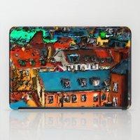 copenhagen iPad Cases featuring Copenhagen Rooftops by E.M. Shafer