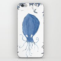 squid iPhone & iPod Skins featuring squid.  by Elvis Vazquez