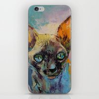 sphynx iPhone & iPod Skins featuring Sphynx by Michael Creese