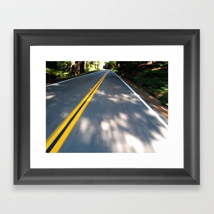 Avenue of the Giants Framed Art Print