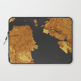 Street Map of San Francisco and Oakland, California Laptop Sleeve