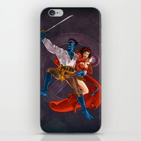 nightcrawler iPhone & iPod Skins featuring Nightcrawler & Scarlet Witch by Studio Acramill