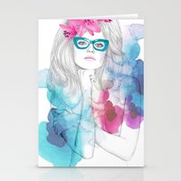 glasses Stationery Cards featuring Glasses by Camis Gray