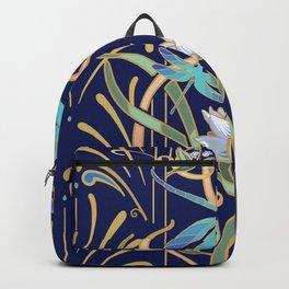 Art Nouveau Dragonflies | Navy Backpack