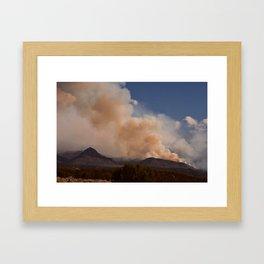 Cedar City Forest Fire - II Framed Art Print