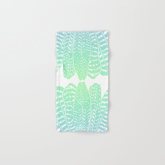 TRIBAL FEATHERS - SEAFOAM Hand & Bath Towel