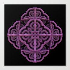 Purple Emblem Canvas Print