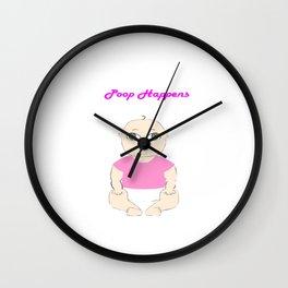 Pink Poop Baby Wall Clock