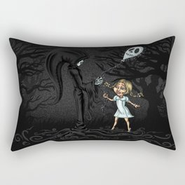 la morte e la bambina Rectangular Pillow